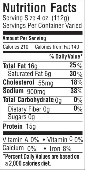 Point Cut Papain Free Nutrition Facts
