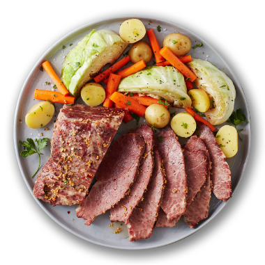 Oven Roasted Corned Beef & Cabbage - Hover